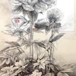 5位 50票 ラティモア チエコ『立姿美人』日本画(紙本膠彩)