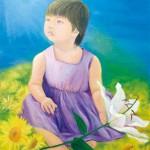 【すきわ賞】岩崎和子『煌めき繋ぐ』油彩