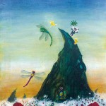 鷹觜 真美 『逢魔が時のとんぼ乗り場』油彩