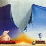 佐々木樹夫『小童』油彩