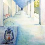 桑原 文子『明るい廊下』油彩