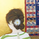 横江陽子『旅立つNへ』日本画(紙本膠彩)