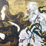 【すきわ賞】堀内友里江『薫風花麗』日本画(紙本膠彩)