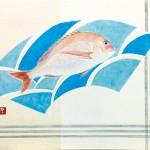 【ウエマツ賞】神野妙子『鯛の浦』日本画(紙本膠彩)