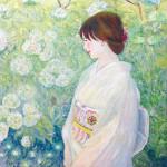 松本順子『六月』油彩