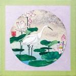佐瀬亜希子『四季花鳥画』日本画(紙本膠彩)