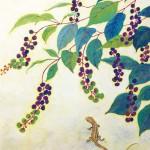 【後期 makotomo賞】三浦幹『蜥蜴』日本画(紙本膠彩)