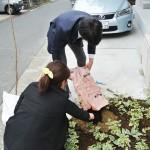 大きなトランクにこの土を入れて持ってきてくださった吉武さん!ありがとうございます!