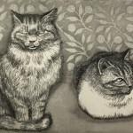 【萩原一蔵商店賞】 長峯 道代 『Deux chats』