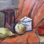 春田 まり子 『赤いカップの静物画』