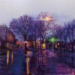 【大型作品(弘重ギャラリー)1位】 安田 志穂 『夜と雨のあいだ』