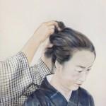 【日本画1位】  ラティモア チエコ   『結ふ』